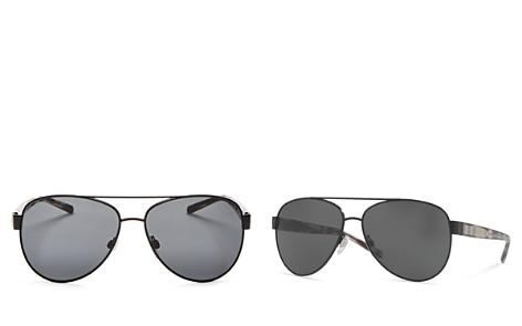Burberry Sun Brow Bar Aviator Sunglasses, 60mm - Bloomingdale's_2