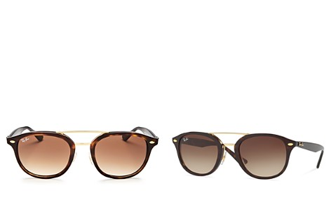 Ray-Ban Highstreet Brow Bar Square Sunglasses, 52mm - Bloomingdale's_2