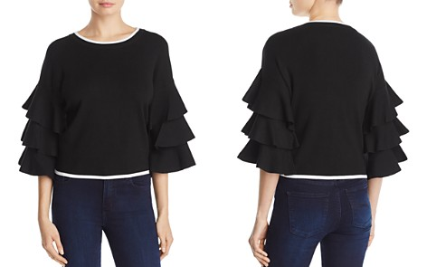 Marled Tiered Ruffle Sweater - 100% Exclusive - Bloomingdale's_2