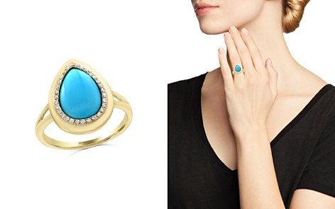 Turquoise and Diamond Ring in 14K Yellow Gold - 100% Exclusive - Bloomingdale's_2