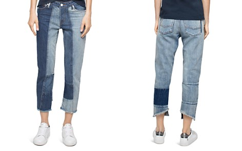 Zadig & Voltaire Deluxe Boyfix Patchwork Boyfriend Jeans in Blue - Bloomingdale's_2