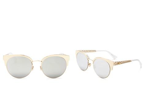 Dior Diorama Mirrored Mini Cat Eye Sunglasses, 55mm - Bloomingdale's_2