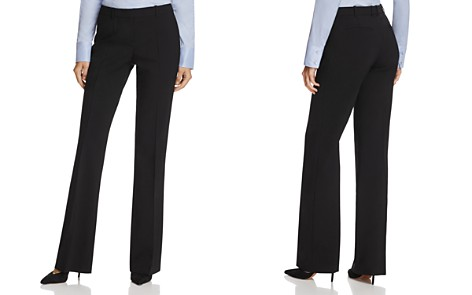 BOSS Tulea Flare Stretch-Wool Pants - Bloomingdale's_2