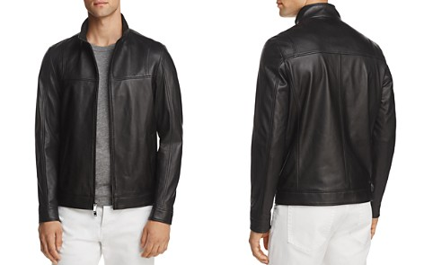 Michael Kors Leather Racer Jacket - 100% Exclusive - Bloomingdale's_2