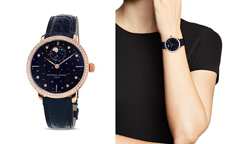 Frederique Constant Manufacture Slimline Moonphase Watch with Diamonds, 39mm - Bloomingdale's_2