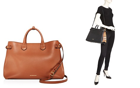 Burberry Banner House Check Large Leather Tote - Bloomingdale's_2