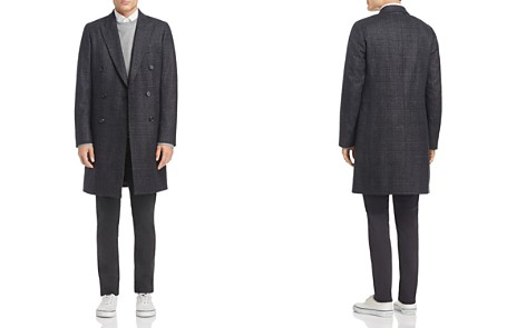 PS Paul Smith Double-Breasted Plaid Overcoat - Bloomingdale's_2