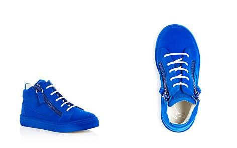 Giuseppe Zanotti Girls' Smuggy Velvet Flocked Mid Top Sneakers - Toddler, Little Kid - Bloomingdale's_2