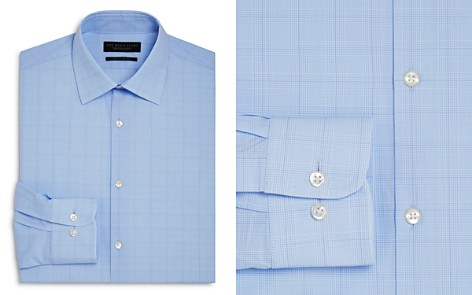 The Men's Store at Bloomingdale's Blue Glen Plaid Regular Fit Dress Shirt - 100% Exclusive_2