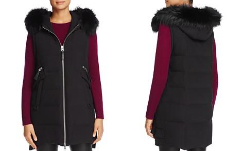Derek Lam 10 Crosby Fox Fur Trim Hooded Down Vest - 100% Exclusive - Bloomingdale's_2