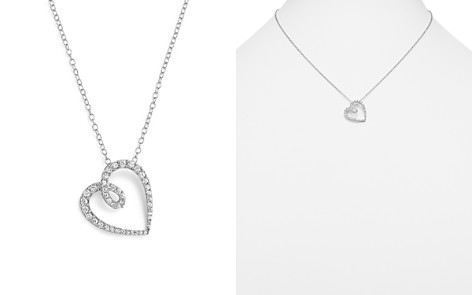 Diamond Heart Pendant Necklace in 14K White Gold, .35 ct. t.w. - 100% Exclusive - Bloomingdale's_2