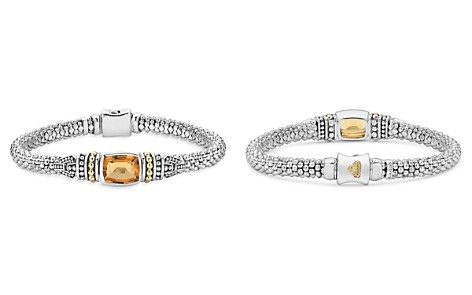 LAGOS 18K Gold and Sterling Silver Caviar Color Bracelet with Citrine - Bloomingdale's_2