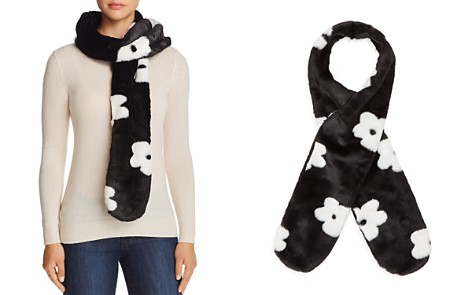 Cara New York Floral Faux Fur Stole - 100% Exclusive - Bloomingdale's_2