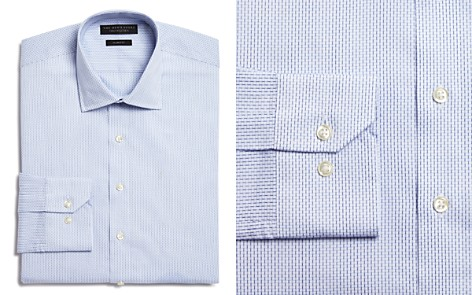 The Men's Store at Bloomingdale's Blue Dobby Slim Fit Dress Shirt - 100% Exclusive_2