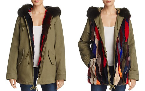 AQUA Multi-Color Fur Reversible Anorak Jacket - 100% Exclusive - Bloomingdale's_2