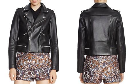 MAJE Basalt Leather Biker Jacket - Bloomingdale's_2