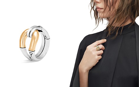 John Hardy 18K Yellow Gold and Sterling Silver Bamboo Loop Ring - Bloomingdale's_2
