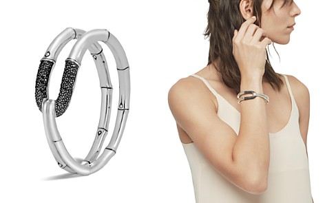 John Hardy Sterling Silver Bamboo Flex Cuff with Black Sapphire - Bloomingdale's_2