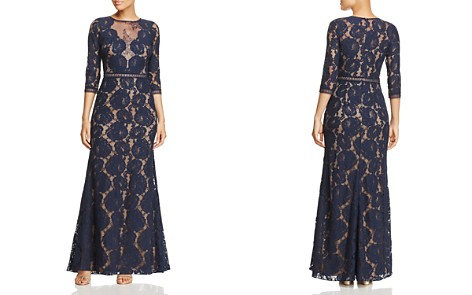 Tadashi Shoji Three-Quarter Sleeve Lace Gown 100% Exclusive - Bloomingdale's_2
