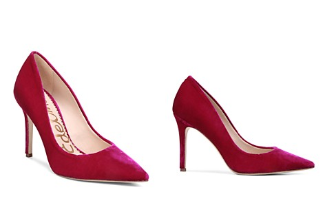 Sam Edelman Hazel Velvet Pointed Toe High-Heel Pumps - Bloomingdale's_2