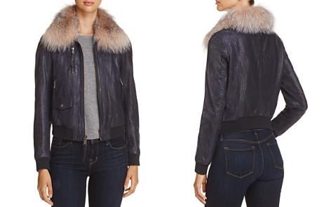 Andrew Marc Naples Fur Trim Leather Bomber Jacket - Bloomingdale's_2
