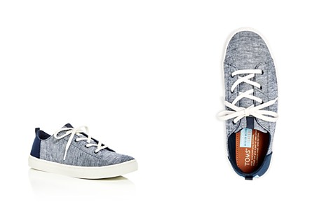 TOMS Boys' Lenny Chambray Lace Up Sneakers - Toddler, Little Kid, Big Kid - Bloomingdale's_2