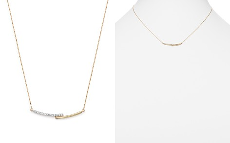 "Adina Reyter 14K Yellow Gold Pavé Diamond Crossover Bar Pendant Necklace, 15"" - Bloomingdale's_2"