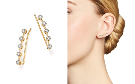 Adina Reyter 14K Yellow Gold Five Diamond Ear Climbers - Bloomingdale's_2