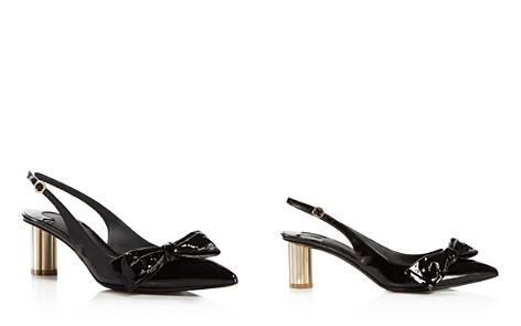 Salvatore Ferragamo Women's Bow Slingback Floral Heel Pumps - Bloomingdale's_2
