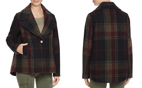 Laundry by Shelli Segal Plaid Swing Coat - Bloomingdale's_2