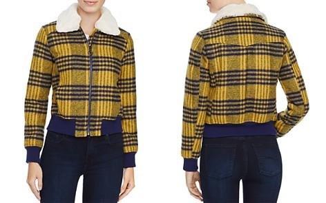 Louise Paris Faux Fur Trim Plaid Puffer Jacket - 100% Exclusive - Bloomingdale's_2