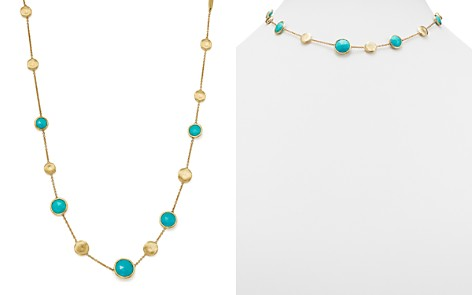 "Marco Bicego 18K Yellow Gold Jaipur Turquoise Necklace, 16"" - Bloomingdale's_2"