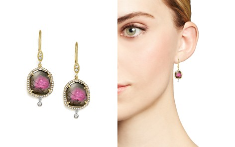 Meira T 14K White and Yellow Gold Diamond and Watermelon Tourmaline Drop Earrings - Bloomingdale's_2