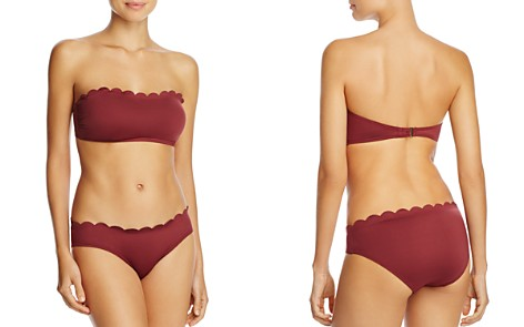kate spade new york Scalloped Bandeau Bikini Top & Hipster Bikini Bottom - Bloomingdale's_2