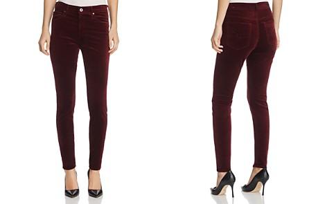 AG Farrah Velvet Skinny Jeans in Deep Currant - Bloomingdale's_2