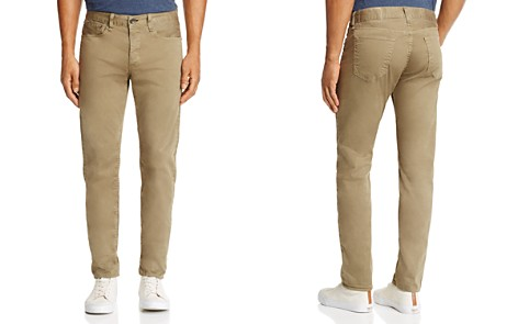 rag & bone Standard Issue Fit 2 Slim Fit Twill Jeans in Khaki - Bloomingdale's_2