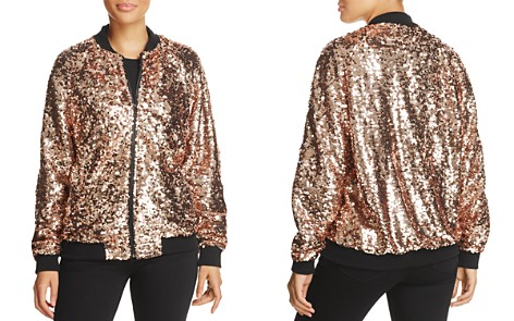Bagatelle Sequin Bomber Jacket - 100% Exclusive - Bloomingdale's_2