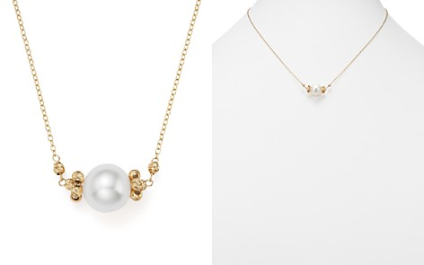 """Bloomingdale's Cultured Freshwater Pearl Pendant Necklace in 14K Yellow Gold, 17"""" - 100% Exclusive_2"""