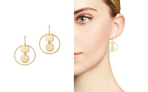 14K Yellow Gold Double Disc Hoop Drop Earrings - 100% Exclusive - Bloomingdale's_2