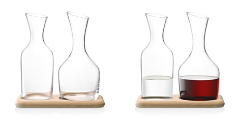 LSA International Wine Water and Carafe Set with Oak Base - Bloomingdale's_2