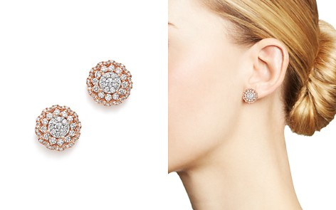 Diamond Flower Burst Stud Earrings in 14K Rose Gold, 1.75 ct. t.w. - 100% Exclusive - Bloomingdale's_2