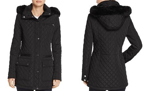 Calvin Klein Faux Fur Trim Quilted Coat - Bloomingdale's_2