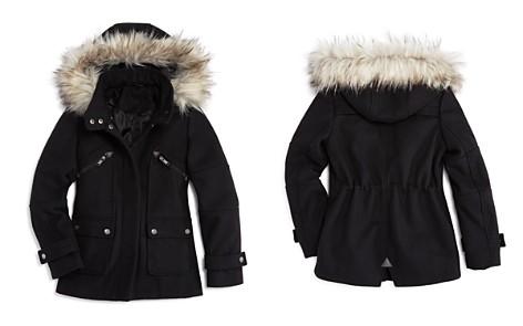 AQUA Girls' Faux-Fur-Trim Coat, Big Kid - 100% Exclusive - Bloomingdale's_2