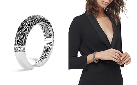 John Hardy Sterling Silver Classic Chain Small Graduated Kick Cuff with Black Sapphire & Black Spinel, 14.5mm - Bloomingdale's_2