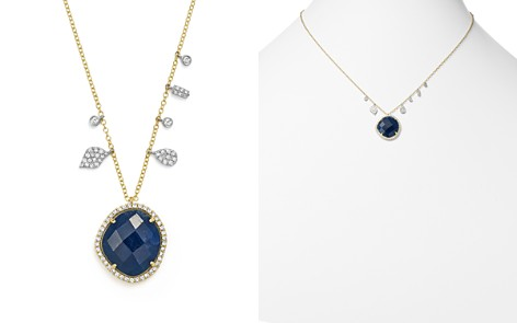 "Meira T 14K White & Yellow Gold Sapphire & Diamond Pendant Necklace, 18"" - Bloomingdale's_2"