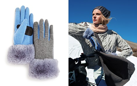 Echo Faux Fur Cuff Tech Gloves - Bloomingdale's_2