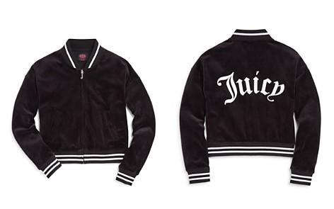 Juicy Couture Black Label Girls' Westwood Velour Jacket - Big Kid - Bloomingdale's_2