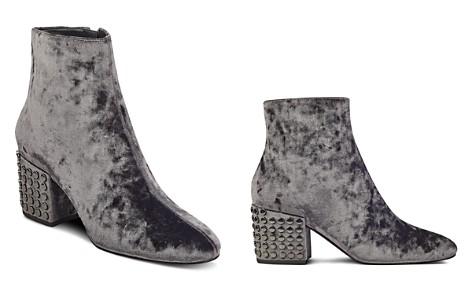 KENDALL and KYLIE Blythe Velvet Embellished Block Heel Booties - 100% Exclusive - Bloomingdale's_2