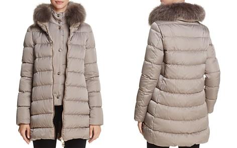Herno Fox Fur Trim Satin Down Coat - Bloomingdale's_2