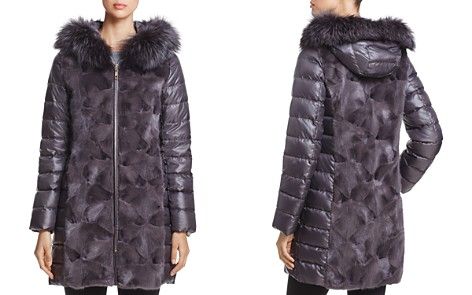 Maximilian Furs Mink Fur Down Coat with Fox Fur Hood - Bloomingdale's_2